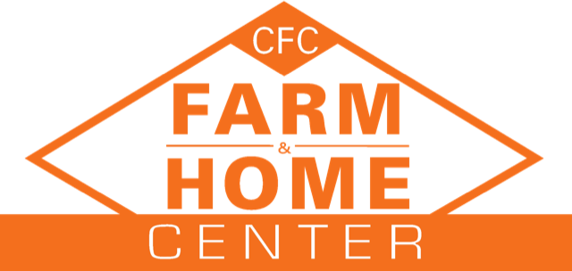 CFC Farm & Home, Orange and White logo. Farm Store in Virginia.